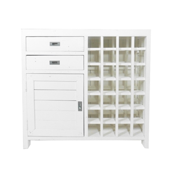 Postrail Wine Buffet White 41W/13D/39H