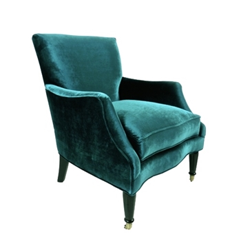 Georgia Chair 29W/39D/38H Teal Gian