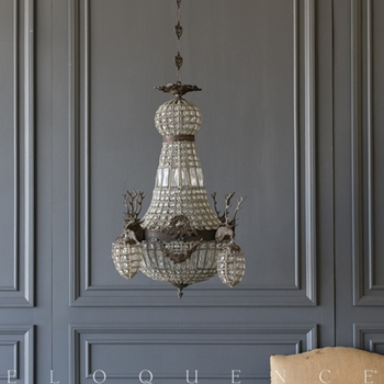 Eloquence® Beaded Chandelier 27W/33H 24W/30H