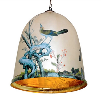 Bell with Birds Pendant