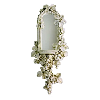 11W/27H Grapes Niche Antique White