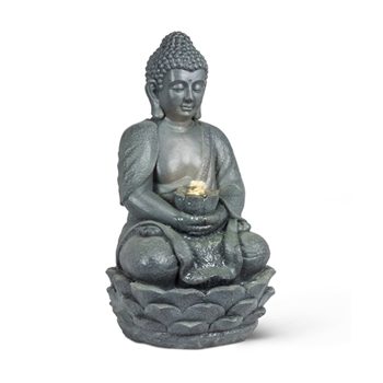 Water Feature Buddah Sitting LED 22in