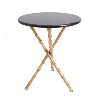 Bamboo Table 19W/23H Gold