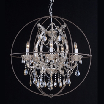 Champagne Cage Chandelier 29W/29H