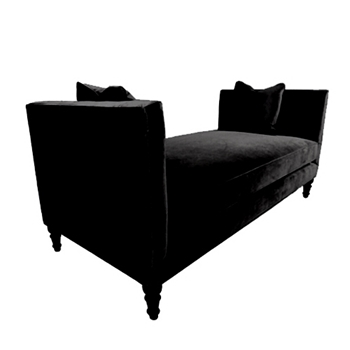 Grace Daybed 76W/36D/34H Black Gian