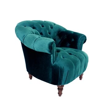 Alice Chair 37W/36D/36H Teal Gian