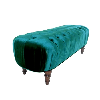 Alice Ottoman 60W/18D/19H Teal Gian