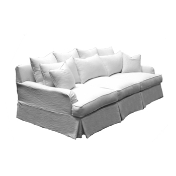 Willows Sofa 97W/53D/38H White Denim