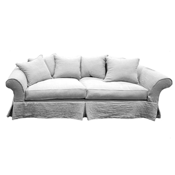 Sophisticated Sofa 88W/41D/38H White Denim