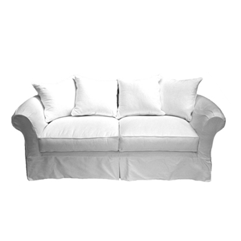 La Luna Sofa 90W/38D/38H White Denim