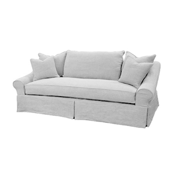Pollock Sofa 90W/38D/38H White Denim