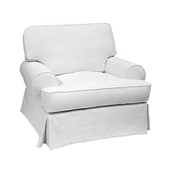 T-Back Chair 44W/41D/38H White Denim