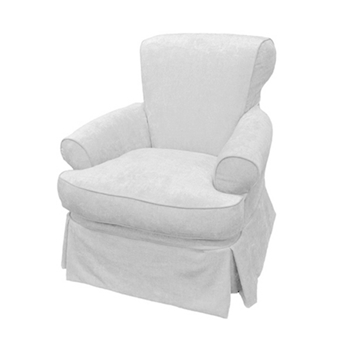 Emma Chair Swivel 36W/40D/37H White Denim