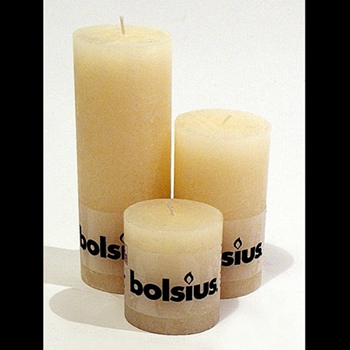 Candle Bolsius 3,5,7.5in Ivory
