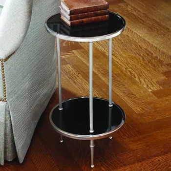 Black Petite 2 Tier Side Table