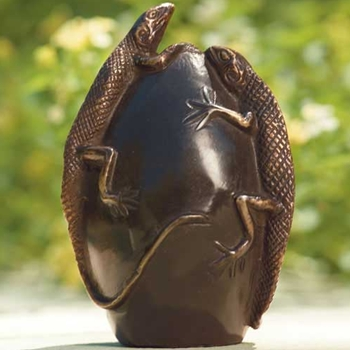 Bronze Curio Lizard Egg