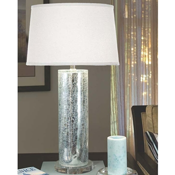 Cracked Mirror Table Lamp