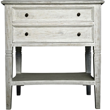 Oxford White Wash Side Table
