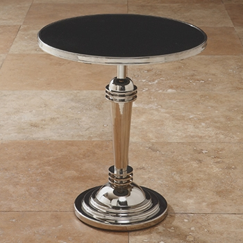 Machine Age Nickel Side Table