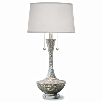 Silver Vessel Table Lamp