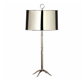 Porter Shiny Nickel Table Lamp