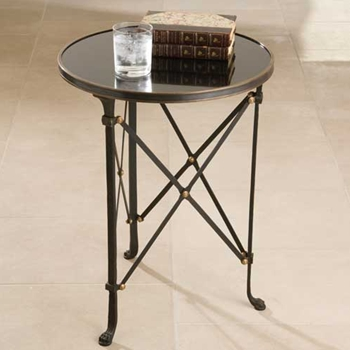 Black Directoire Side Table
