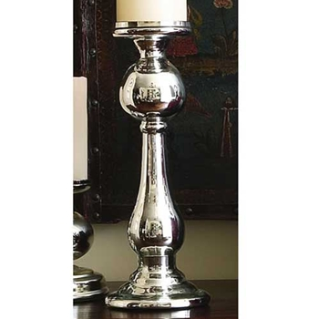 Silver Mercury Brittania Candle Holder