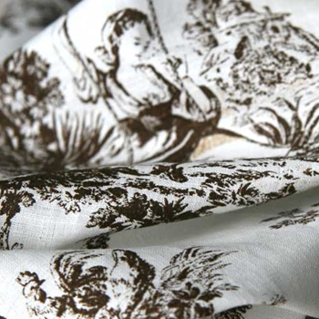 Chocolate Linen Toile Briarwood