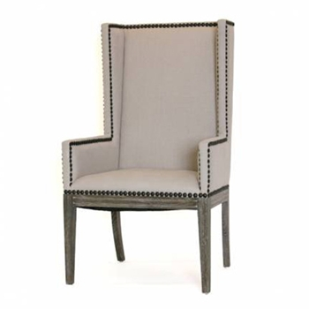 Nailhead Wing Dining Chair