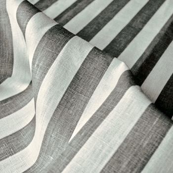 Pewter Linen Vertical Stripe