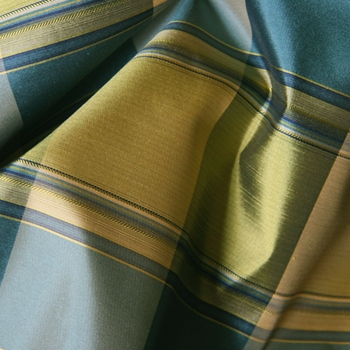 Teal Amore Plaid Silk Citrus