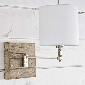 Recycled Wood Swing Wall Lamp