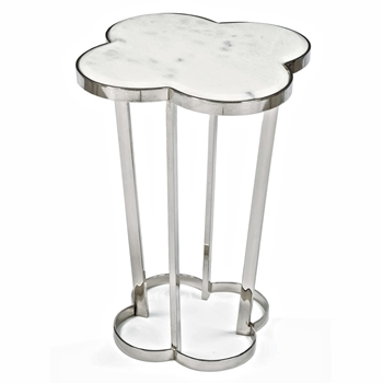 Clover Nickel/Marble Side Table