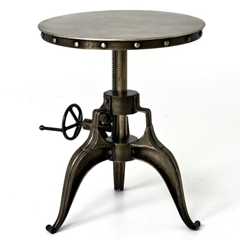 Crank Patina Side Table