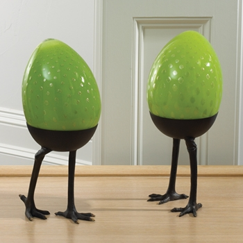 Egg Standing Lime Figurine