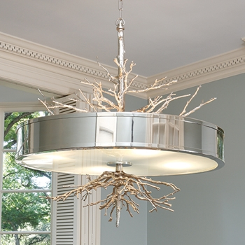 Twig Nickel Pendant Lamp
