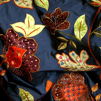 Steel Silk Tree Of Life Embroidered