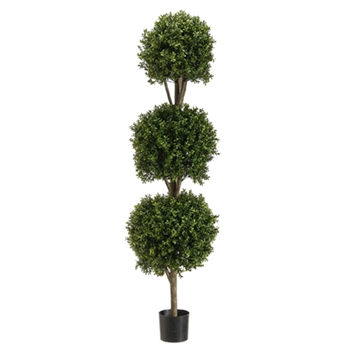 Boxwood Leaf Green Topiary (3 Ball) 5ft