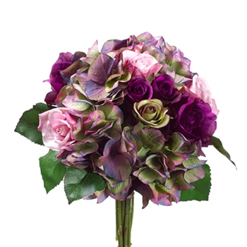 Violet Bouquet 11in