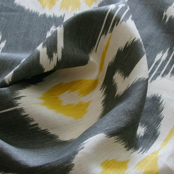 Steel Linen Bansuri Ikat Yellow