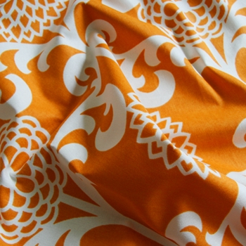 Orange Toile Fun Floret