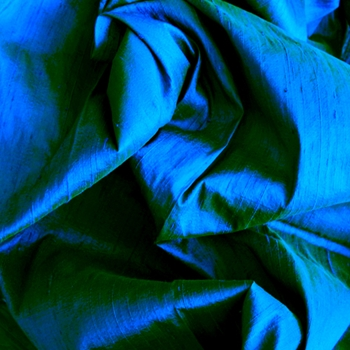 Teal Dupioni Silk