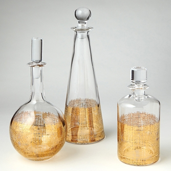 Crosshatch Decanter