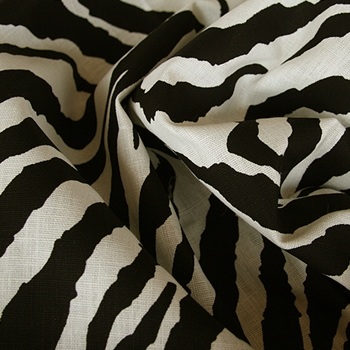 Black & White Linen Safari Zebra