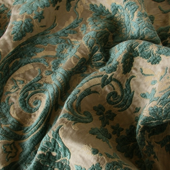 Verde Chenille Perricone Damask