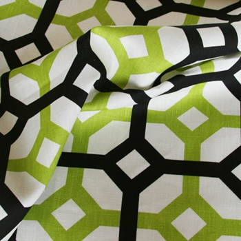 Peridot Linen Lattice Black