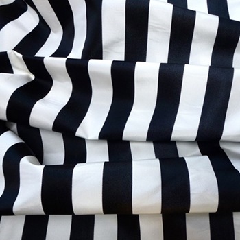 16. B&W Silk Stripe Satin