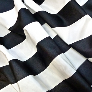16. Blk/White Silk Stripe Satin