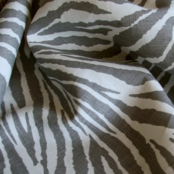 27. Pewter Linen Safari Zebra