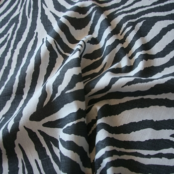 23. Graphite Linen Safari Zebra